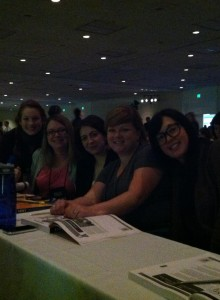 Erin P, Katie, Me, Carol and Lindsay at Day One of the APDT Conference